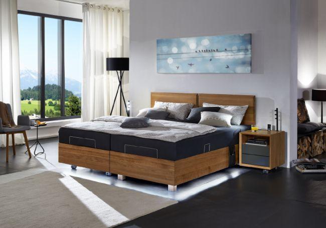 Ein Doppelbett von Kirchner mit praktischer Hebefunkftion
